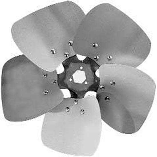 """Picture of 5-Blade 12"""" 23° CCW Condenser Style, Heavy Duty Propeller"""