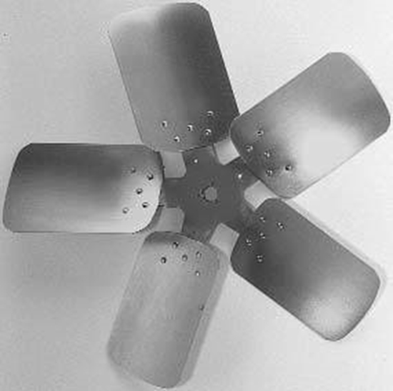 """Picture of 5-Blade 28"""" 27° CW Condenser Style, Heavy Duty Propeller"""