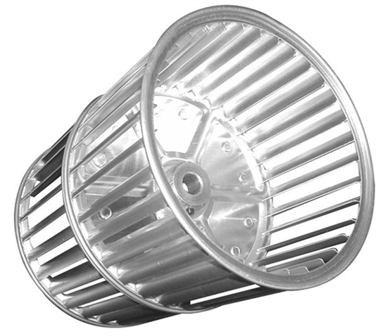 """Picture of Double Inlet 7 1/2"""" x 5"""" CW Aluminum Blower Wheel"""