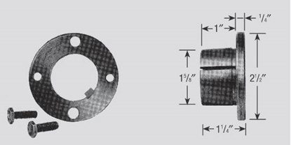 """Picture of Split Tapered, H-Style Bushing Hub 1 3/8"""" Bore"""