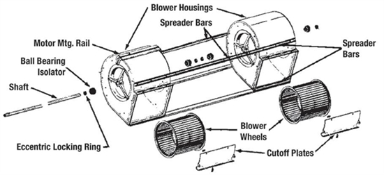 Picture of Twin Blower Parts Kit 2A10-6A, 2A10-8A, 2A10-10A
