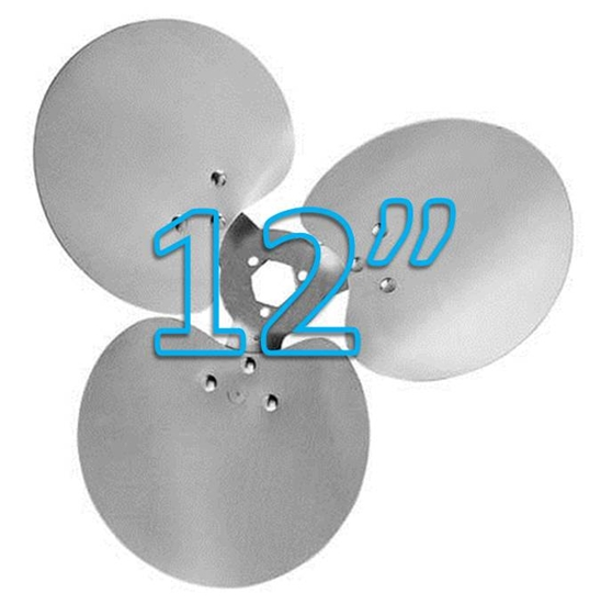 """Picture of 3-Blade 12"""" 23° CW Free Air Propeller"""