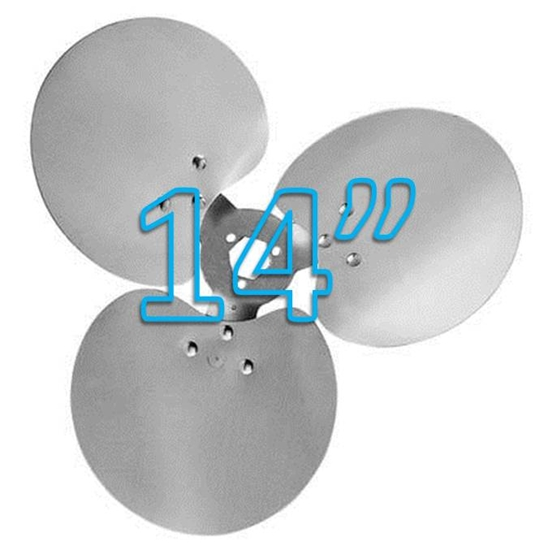 """Picture of 3-Blade 14"""" 23° CW Free Air Propeller"""