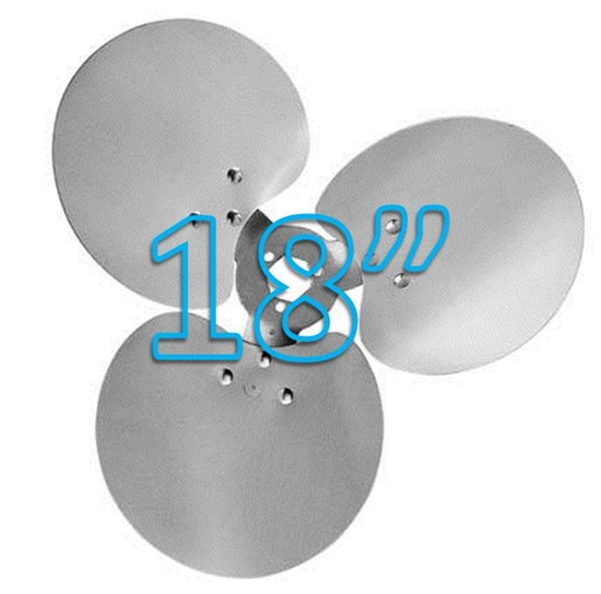 """Picture of 3-Blade 18"""" 23° CW Free Air Propeller"""