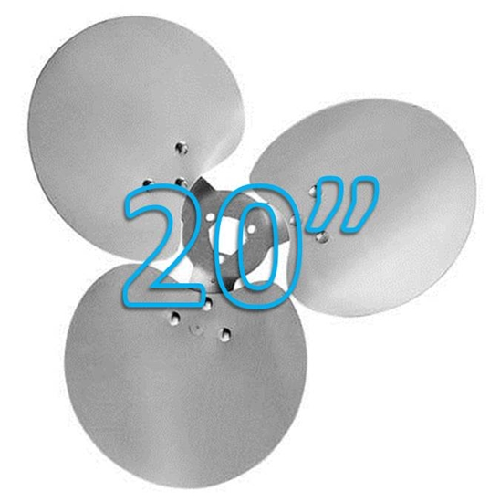 """Picture of 3-Blade 20"""" 23° CCW Free Air Propeller"""