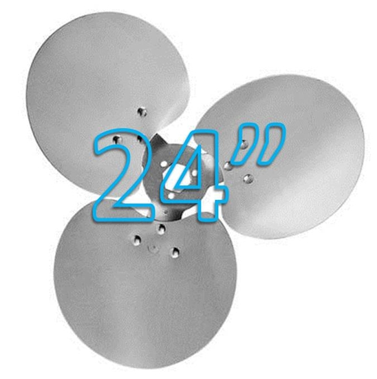 """Picture of 3-Blade 24"""" 18° CW Free Air Propeller"""