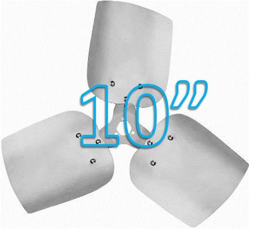 """Picture of 3-Blade 10"""" 23° CW Condenser Style, Heavy Duty Propeller"""