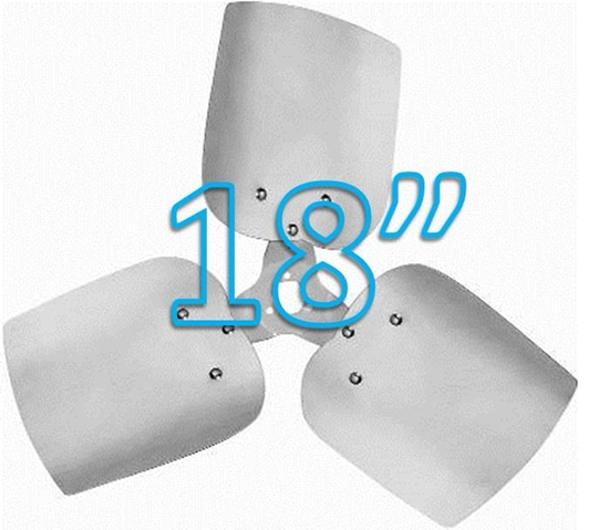 """Picture of 3-Blade 18"""" 30° CW Condenser Style, Heavy Duty Propeller"""