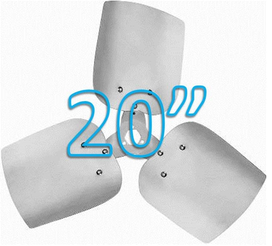 """Picture of 3-Blade 20"""" 33° CCW Condenser Style, Heavy Duty Propeller"""