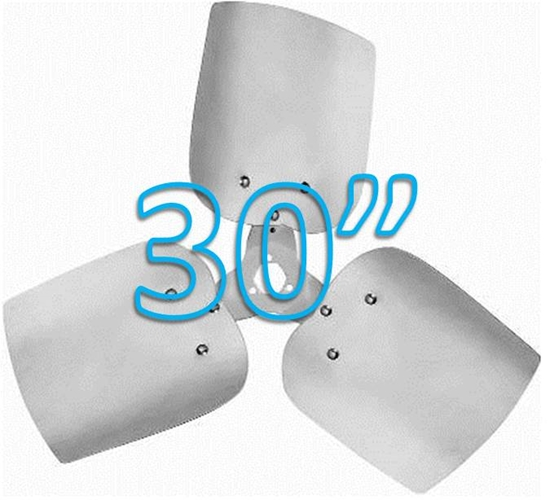 """Picture of 3-Blade 30"""" 27° CCW Condenser Style, Heavy Duty Propeller"""