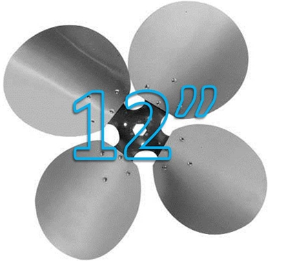 """Picture of 4-Blade 12"""" 23° CW Free Air Propeller"""
