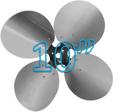 """Picture of 4-Blade 10"""" 23° CCW Free Air Propeller"""