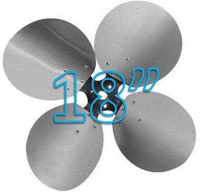 """Picture of 4-Blade 18"""" 23° CW Free Air Propeller"""