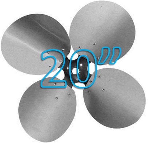 """Picture of 4-Blade 20"""" 27° CCW Free Air Propeller"""