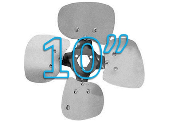 """Picture of 4-Blade 10"""" 19° CCW Condenser Style, Heavy Duty Propeller"""