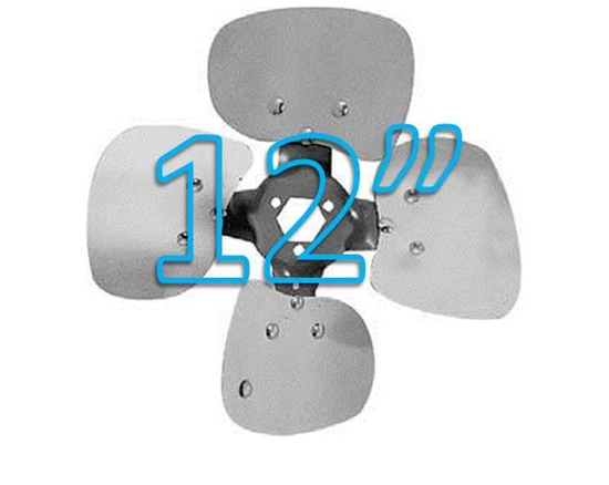 """Picture of 4-Blade 12"""" 19° CW Condenser Style, Heavy Duty Propeller"""