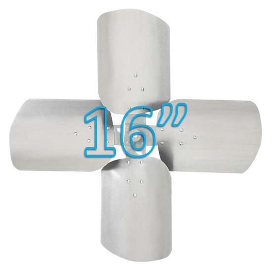 """Picture of 4-Blade 16"""" 19° CW Condenser Style, Heavy Duty Propeller"""
