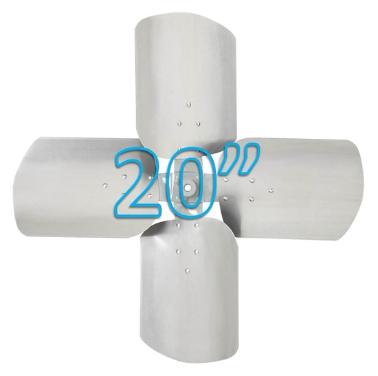 """Picture of 4-Blade 20"""" 27° CCW Condenser Style, Heavy Duty Propeller"""