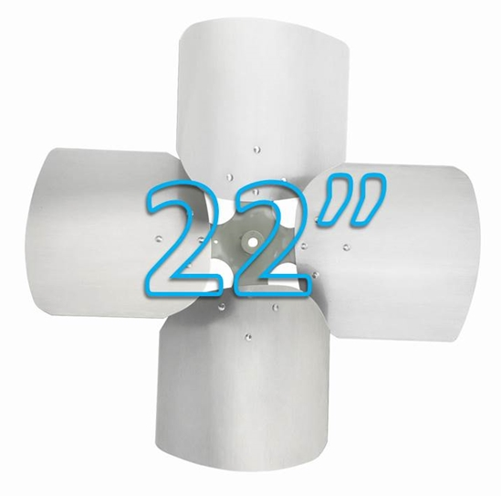 """Picture of 4-Blade 22"""" 23° CW Condenser Style, Heavy Duty Propeller"""
