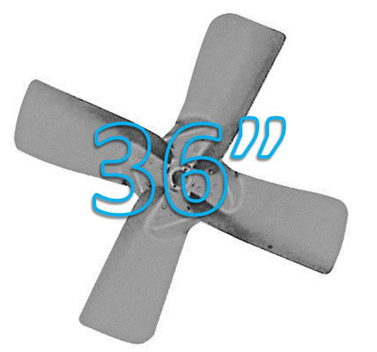 """Picture of 4-Blade 36"""" 27° CW Large Steel, Extra Heavy Duty Propeller **Price includes LTL shipping.  Product can ONLY be shipped to the 48 continental US states.  Product will not be shipped UPS.**"""