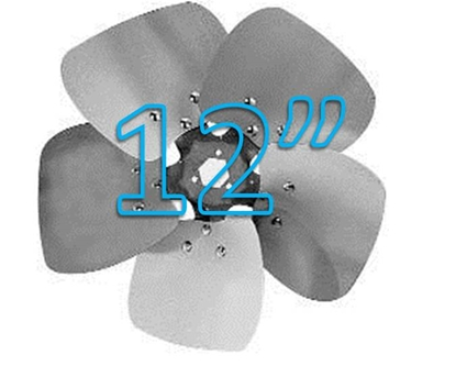 """Picture of 5-Blade 12"""" 19° CW Condenser Style, Heavy Duty Propeller"""